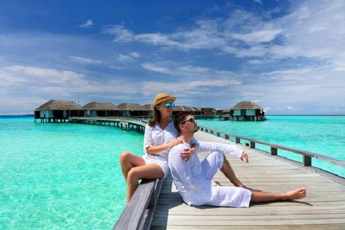 Couple at Taj Resort Maldives