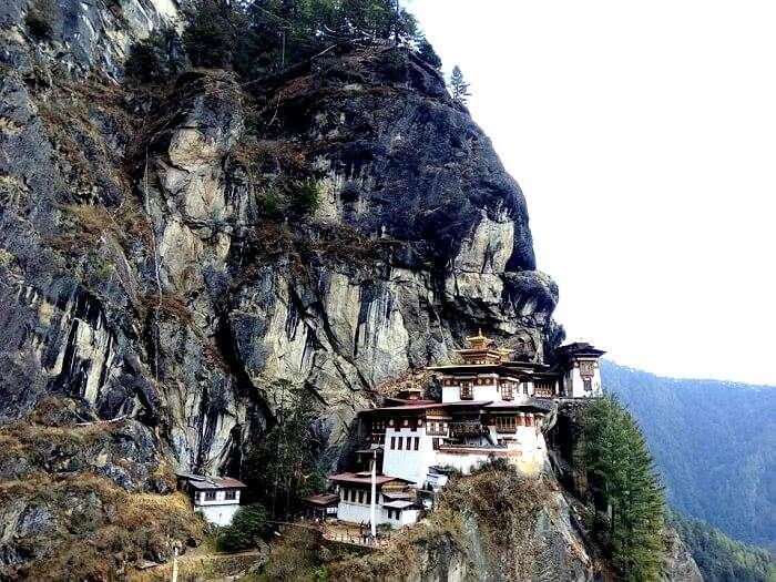 Tiger's nest in Bhutan valley