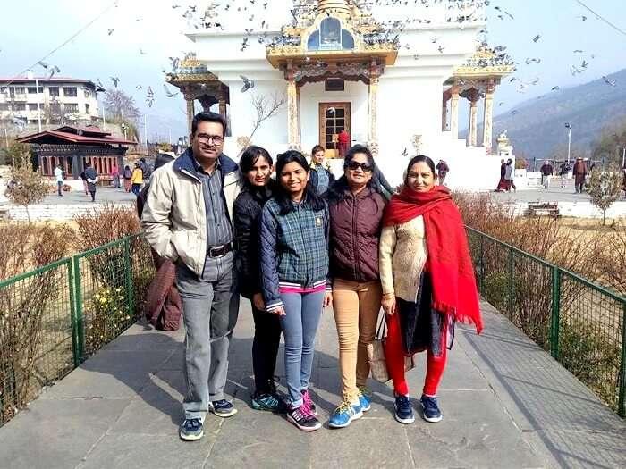 Family touring in Bhutan