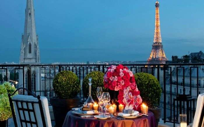 View from Four Seasons Hotel in Paris
