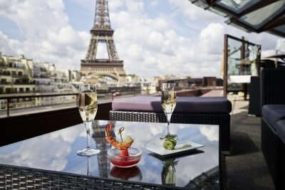 View of Eiffel Tower from Les Ombres