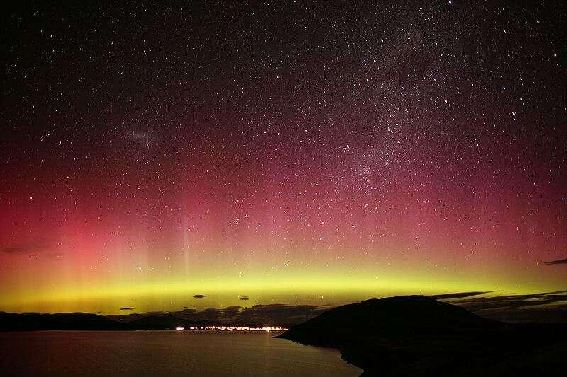 Auroa Australis over Steward Island in New Zealand