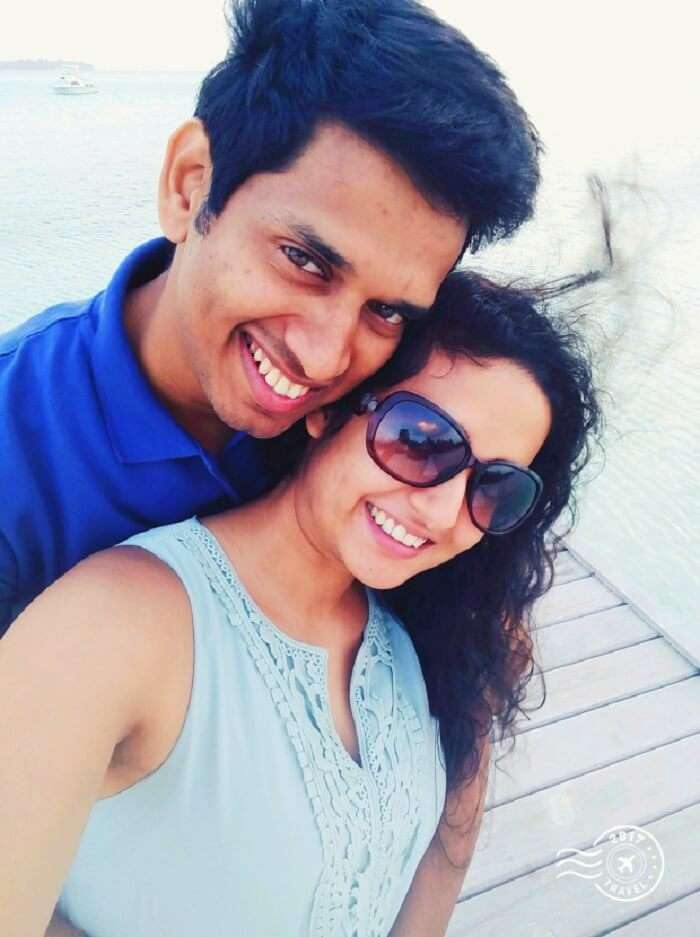 Happy time in Maldives honeymoon