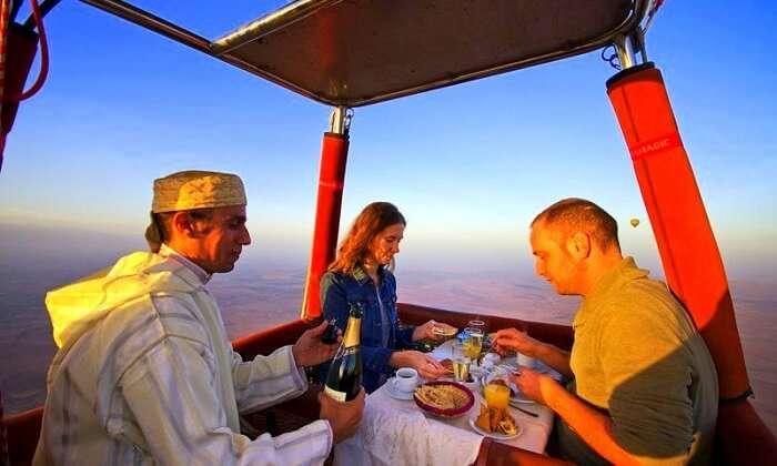 Balloon ride in morocco