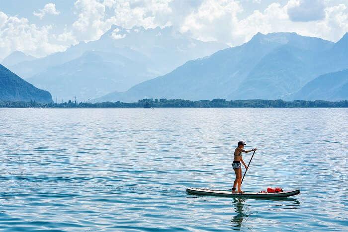 Lake geneva paddle boarding