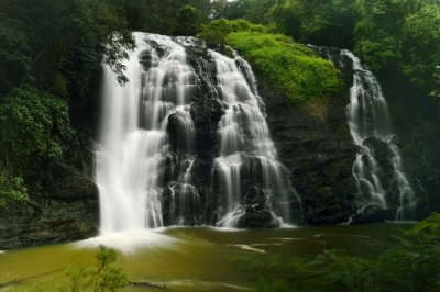 a waterfall in Coorg