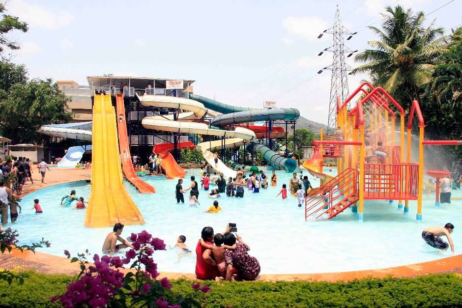 people playing in the amusement of a resort