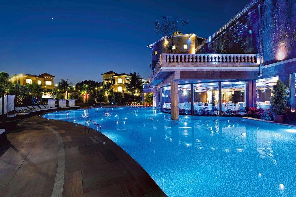 outdoor pool in a resort