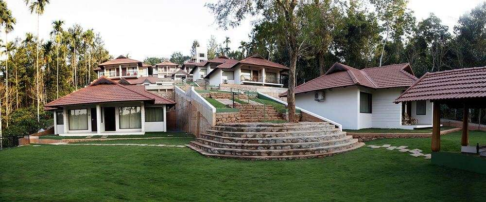 Front view of the villas of The Wave in Wayanad