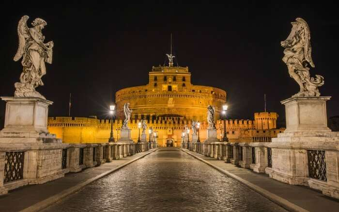 Evening in Castel Sant'Angelo