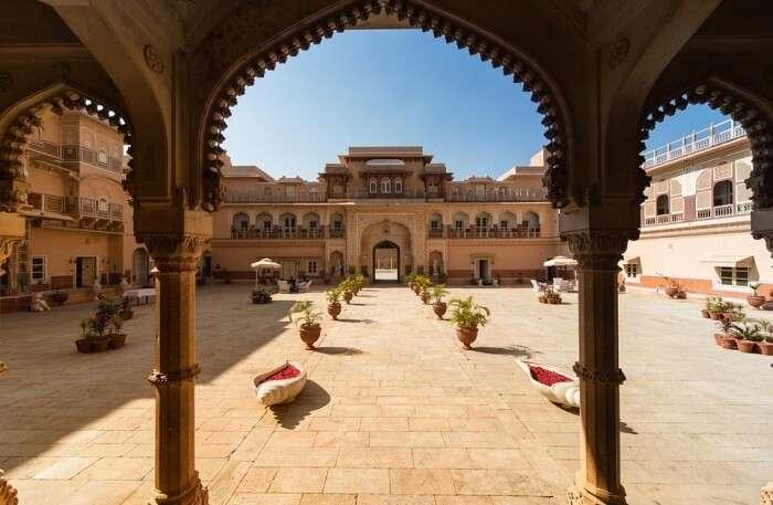 View of Chomu Palace