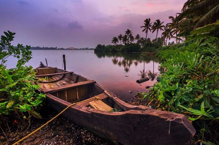 boat in monsoon