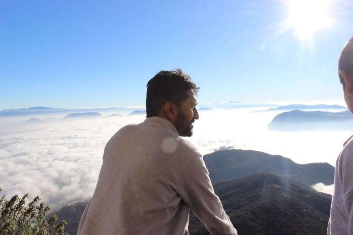 man at adam's peak