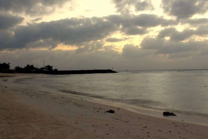 early morning beach in maldives