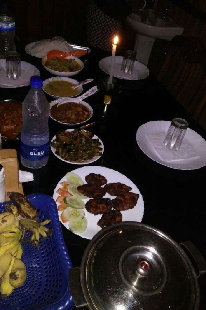 houseboat food in alleppey