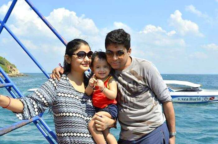 nishant and his family in pattaya