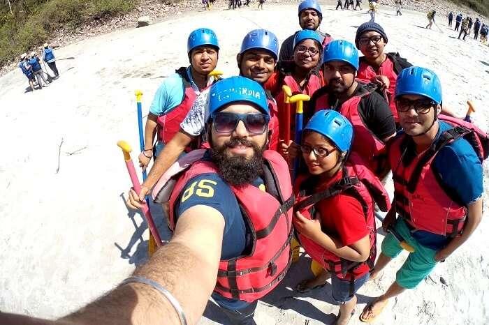 rafting in himalayas