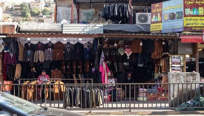 Shop at the bazaar of Amman