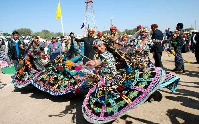 Women performing Kalbelia dance