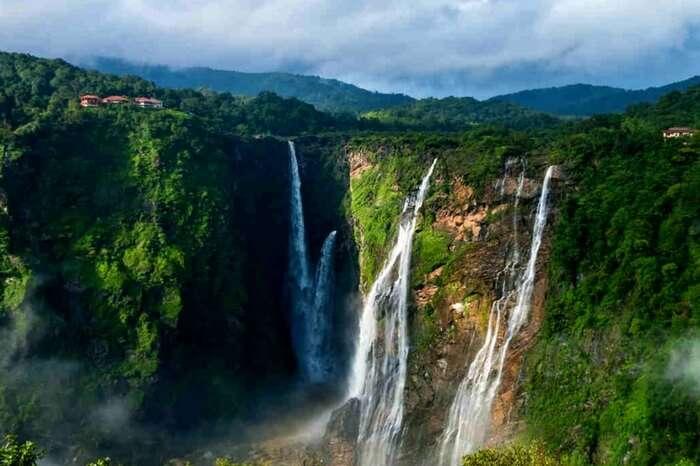 The glorious Jog falls in Karnataka during monsoon