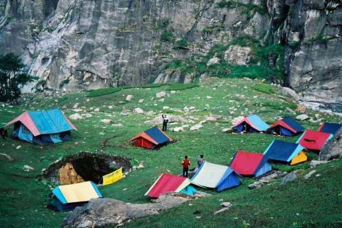 The lovely campsite in Kolad in Raigad