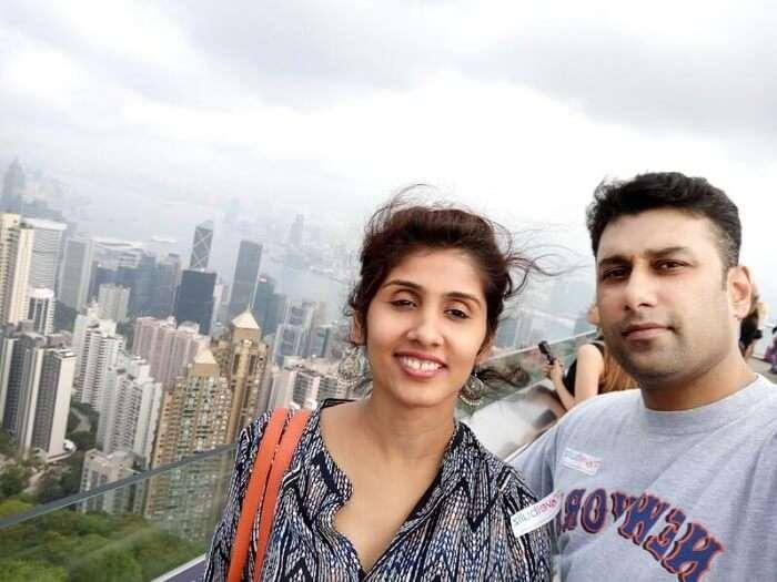 Pradeep and his family take the Hong Kong city tour