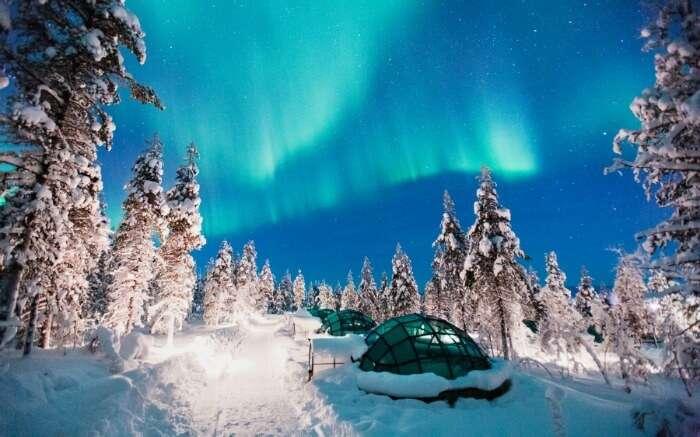 Ice igloo in Finland
