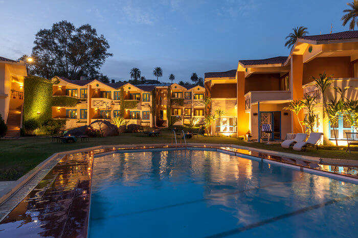 a hotel in Mount Abu with outdoor pool