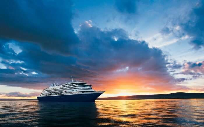 Cruise during sunset