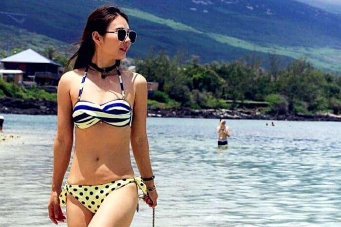 female traveler in Reunion Island