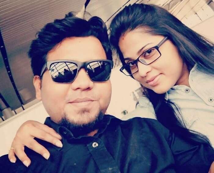 Couple traveling to Kerala