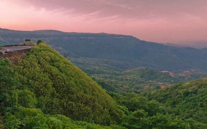 Agumbe lush green hills during twilight
