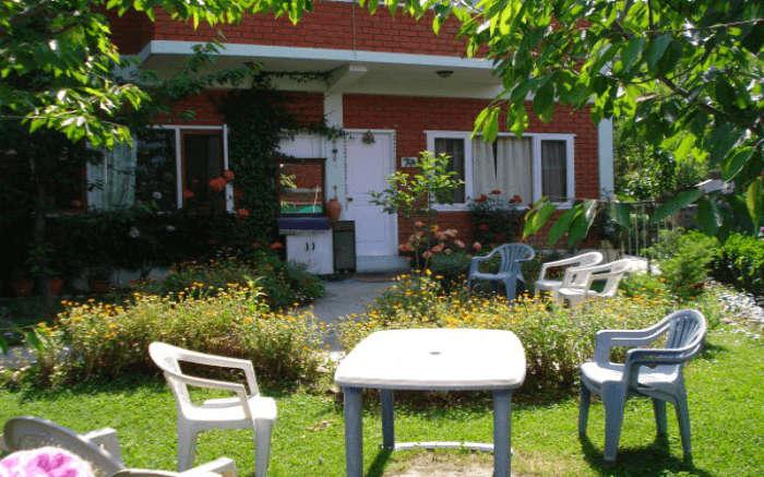 Garden area at Manali Meadows Homestay