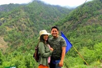 pankaj and his wife in dhanaulti