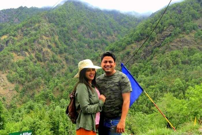 pankaj and his wife in dhanaulti