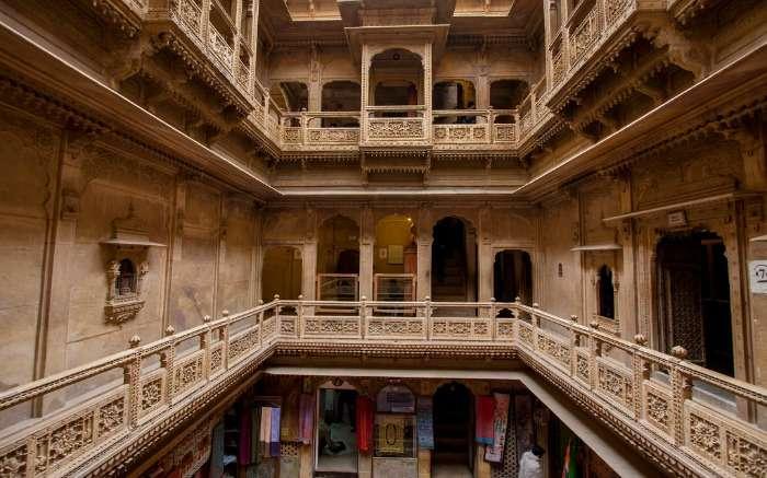 Patwon Ki Haveli interior in Jaisalmer