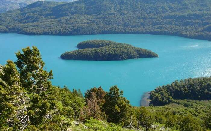 The heart shaped island on the Masacardi Lake