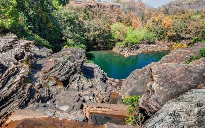 Panna national park lake view