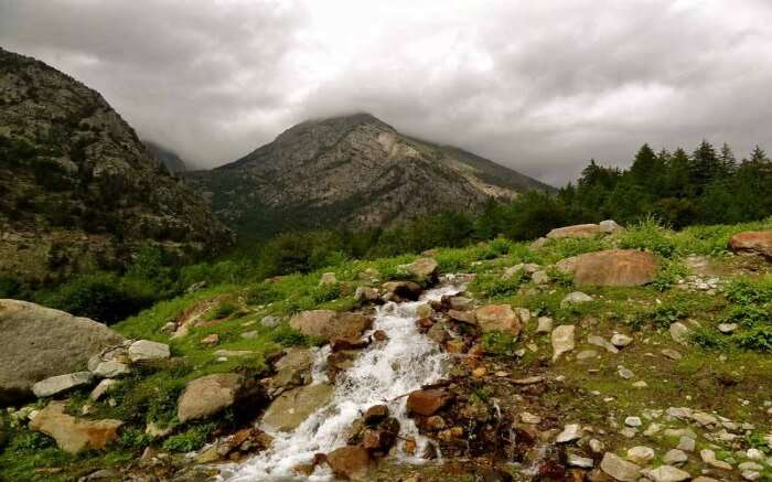a stream in the middle of Nahan hills