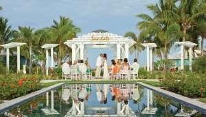 wedding reception bahamas