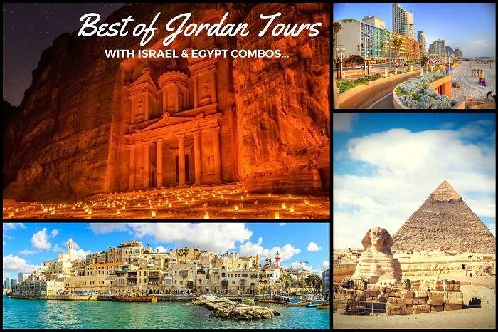 Destinations covered in Jordan tours in combination with Egypt and Israel