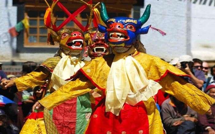 mask dance during Ladakh Harvest Festival