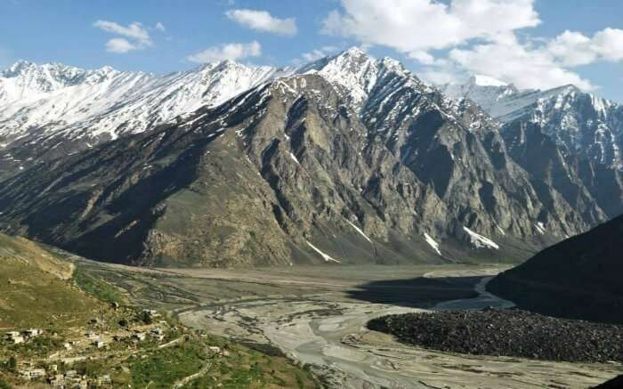 snow capped mountains in Lahaul