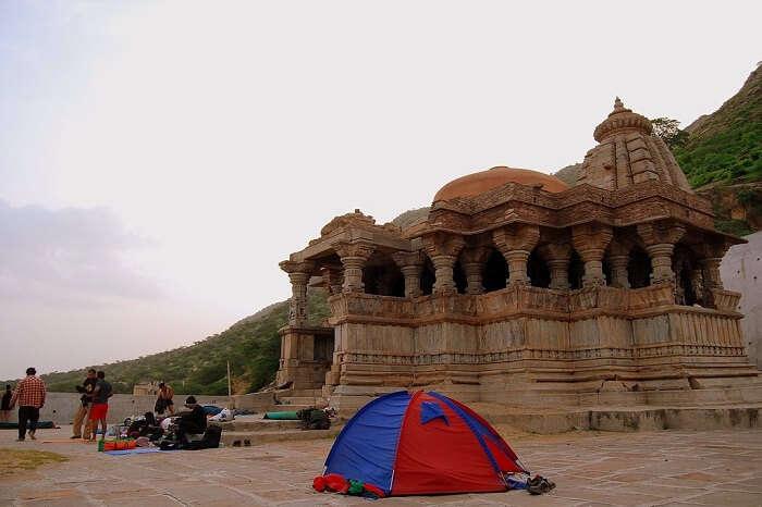 A medieval temple at Bisalpur Lake in Tonk region of Rajasthan