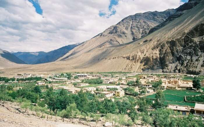 the barren mountains of Tabo
