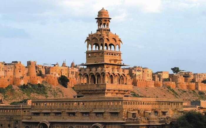 the giant Mandir Palace in Jaisalmer
