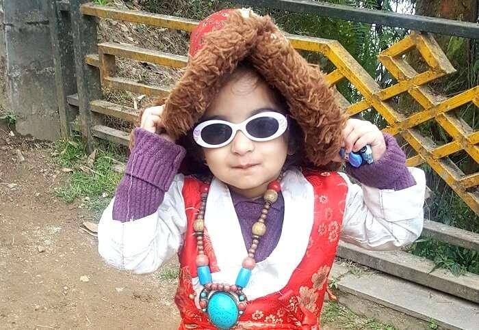 cute children in sikkim
