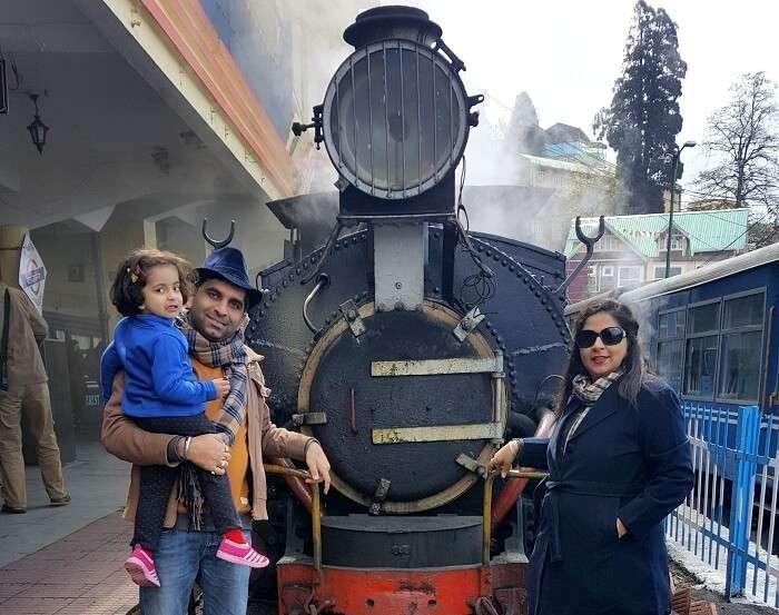 toy train in darjeeling