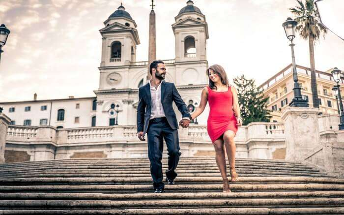 A couple in Rome