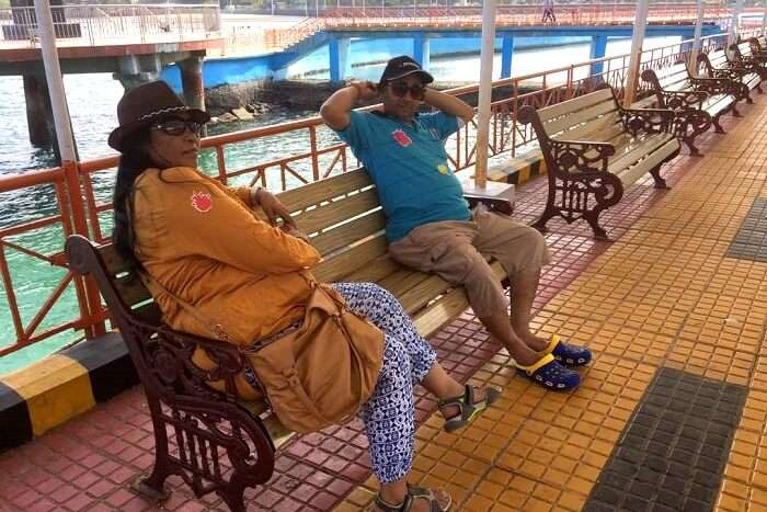 waiting for ferry in andaman